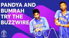 Pandya and Bumrah try the buzzwire! Who has the steadiest hand? | ICC Cricket World Cup 2019