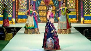 "Rangvesh (Bardoli) Theme based fashion show-""lagna shringar"" -The culture of Indian Wedding"