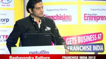 Raghavendra Rathore, Fashion Designer & Entrepreneur at Franchise India 2012