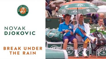 French open in the rain with Novak Djokovic – Roland-Garros 2014